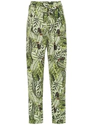 Andrea Marques Printed Straight Trousers Green