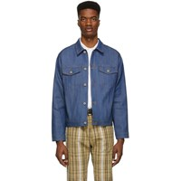 Naked And Famous Denim Blue Selvedge Denim Classic Fit Jacket