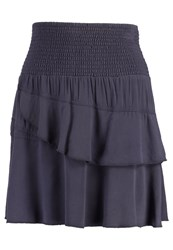 Cream Mitzi Aline Skirt Deep Blue Dark Blue