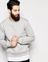 Farah Sweatshirt With F Logo Grey