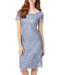 Phase Eight Talia Embroidered Dress Bluebell