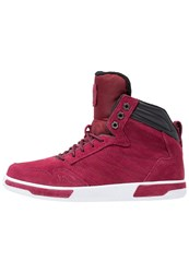 K1x Hightop Trainers Burgundy Red