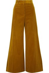 Bella Freud Bianca Cotton Corduroy Wide Leg Pants Mustard