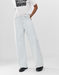 Cheap Monday Organic Cotton Wide Leg Trouser Jeans Blue