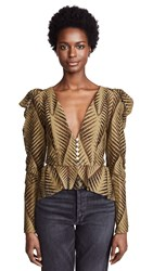 Torn By Ronny Kobo Dabria Top Olive