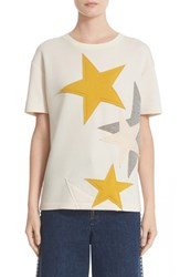 Stella Mccartney Women's Star Applique Jersey Tee