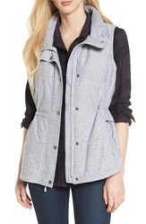 The North Face 'Pseudio' Quilted Vest Light Grey Heather
