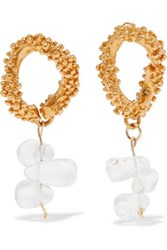 Alighieri Gold Plated And Glass Earrings One Size