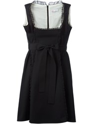 Red Valentino Tulle Trim Bow Detail Dress Black