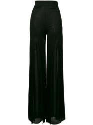 Balmain Sheer Flared Trousers Women Polyamide Viscose 40 Black
