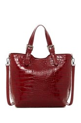 Renata Corsi Embossed Leather Handbag Red