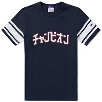 Champion X Beams Japanese Print Tee Blue