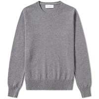 Officine Generale Cashmere Crew Knit Grey