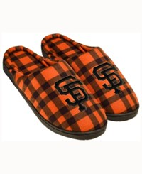 Forever Collectibles San Francisco Giants Flannel Slide Slippers Orange