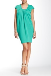 Vertigo Short Sleeve Scoop Neck Dress Green