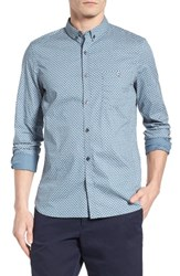 French Connection Men's Paisley Sport Shirt