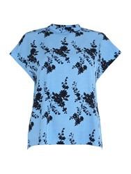 Samsoe And Samsoe Jardin Blue Floral Ss Blouse Blue