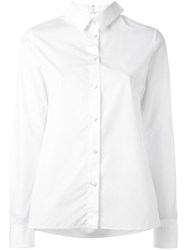 Maison Martin Margiela Collar Detail Long Sleeve Shirt White