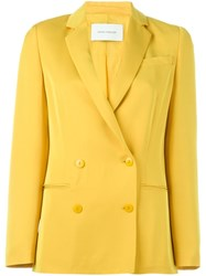 Cedric Charlier Cedric Charlier Double Breasted Blazer Yellow And Orange