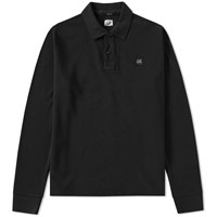 C.P. Company Long Sleeve Pique Polo Black