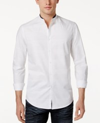 Inc International Concepts Men's Chase Dobby Shirt Only At Macy's White