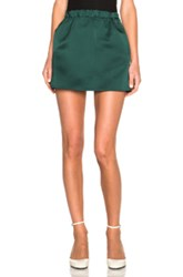 Marni Double Satin Mini Skirt In Green Blue Floral