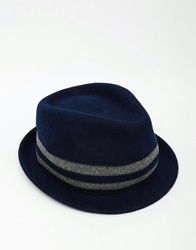 Fred Perry Wool Trilby Hat Navy