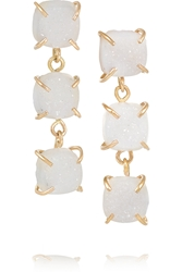 Melissa Joy Manning 14 Karat Gold Druzy Earrings