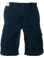 Incotex Cargo Pocket Shorts Blue
