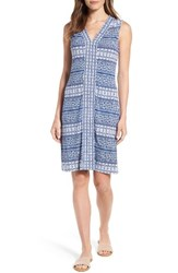 Tommy Bahama Women's Greek Grid Jersey Dress