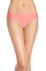 Women's Halogen 'No Show' Thong Coral Sugar