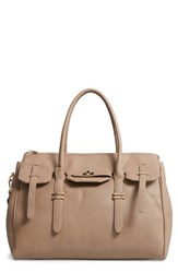 Sole Society Faux Leather Weekend Satchel Beige Taupe