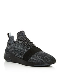 Creative Recreation Men's Ceroni Knit Sneakers Black Smoke Gray