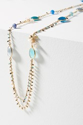 Anthropologie Serti Layered Necklace Gold
