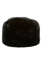 Women's Dena Faux Fur Pill Box Hat Black