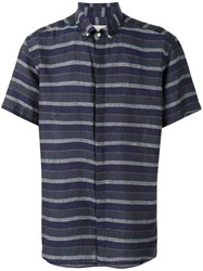 Oliver Spencer Aston Short Sleeve Shirt Blue
