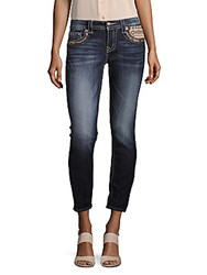 Miss Me Abstract Skinny Fit Jeans Medium Blue