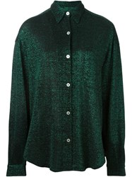 Jean Paul Gaultier Vintage Metallic Knit Shirt Green