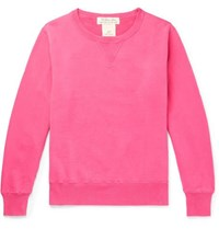 Remi Relief Distressed Loopback Cotton Jersey Sweatshirt Pink