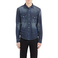 Earnest Sewn Men's Denim Irving Shirt Blue Navy Blue Navy