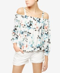 Sanctuary Tori Floral Print Off The Shoulder Top Havana Floral
