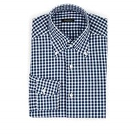 Sartorio Checked Cotton Button Down Shirt White