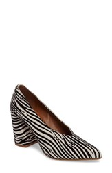 Topshop Women's Gina V Cut Pump Zebra Print Leather