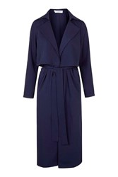 Midi Trench Coat By Oh My Love Navy Blue