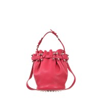 Alexander Wang Small Diego Bag In Soft Pebbled Leather And Silver