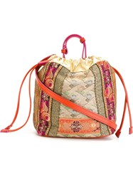 Etro Printed And Embroidered Bucket Bag Multicolour