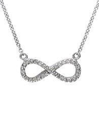 Effy Pave Classica 14K White Gold Diamond Infinity Necklace