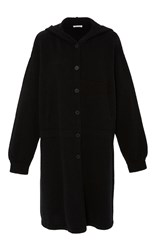 Tomas Maier Hooded Button Up Cardigan Black