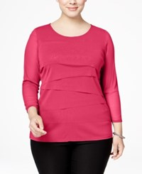Alfani Plus Size Tiered Top Only At Macy's Anything Rose