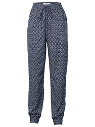 Fat Face Cloud Ditsy Printed Trousers Navy